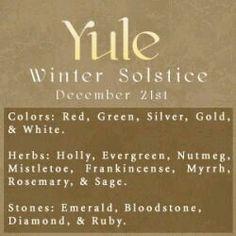 Sabbats~ Wiccans & Pagans celebrate Yule aka Winter Solstice