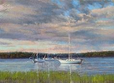 """""""Late Afternoon Marsh"""" by JC Airoldi Pastel ~ 12 x 16"""