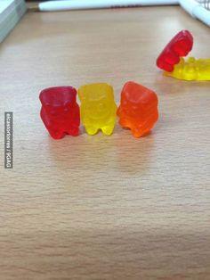Photobombing LVL Gummy Bear