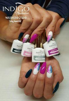 Likes: commented: 24 - Indigo Nails (Indigo Nails Lab. Fancy Nails, Pink Nails, Cute Nails, Pedicure Nail Art, Nail Manicure, Hair And Nails, My Nails, Nail Lab, Nagel Blog
