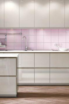 Farbige Wände in der Küche - Die 7 besten Tipps für die ... | {Pino küchen betonoptik 97}