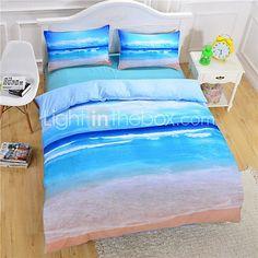 Beach Ocean Duvet Cover Set 3D Bedding Set Twin Full Queen - USD $45.99