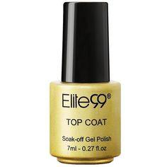 Elite99 7.3ml LED UV Top Coat Nail Polish Primer Varnish ($1.83) ❤ liked on Polyvore featuring beauty products, nail care and nail polish