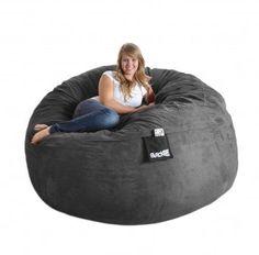 Charmant 6 Ft Round Charcoal Grey Huge Foam Beanbag Chair SLACKER Sack Microsuede  Sac Love Microfiber XL