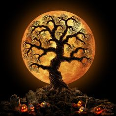 Want to discover art related to halloween? Check out inspiring examples of halloween artwork on DeviantArt, and get inspired by our community of talented artists. Samhain Halloween, Halloween Moon, Halloween Trees, Halloween Pictures, Holidays Halloween, Vintage Halloween, Halloween Pumpkins, Halloween Crafts, Happy Halloween