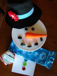 "Cutest gift idea ever!  ""Just Add Snow""--everything you need to make a snowman, except the snow, of course. :)"