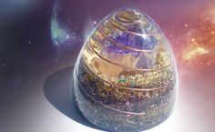 Orgonite Cosmic Cone by rt-arcturian on DeviantArt Crystals Minerals, Rocks And Minerals, Stones And Crystals, Uv Resin, Resin Art, Feng Shui, Magical Jewelry, Beautiful Rocks, Resin Crafts