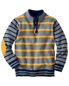 Stand Up Sweater Little Boy Fashion, Kids Fashion Boy, Toddler Fashion, Toddler Outfits, Baby Boy Outfits, Kids Outfits, Baby Boy Knitting Patterns, Crochet Baby Dress Pattern, Knit Baby Sweaters