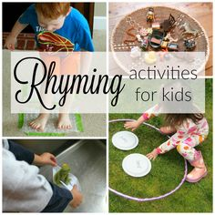 Exploring, creating, and discovering is how we learn! Focusing on creative learning activities for kids! Quiet Time Activities, Rhyming Activities, Preschool Literacy, Kids Learning Activities, Kindergarten Activities, Writing Activities, Teaching Kids, Kindergarten Classroom, Preschool Ideas