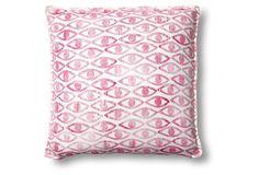Shiva 20x20 Linen Pillow, Berry