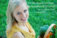 Giveaway over at The Chronicles of Ruthie Hart - Nutrition Consultation with Jenna Braddock!!