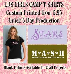 LDS Girls Camp T-shirts - Young Women's T-shirts - Arizona Cap Company - Custom Printed & Embroidered Hats, T-Shirts, Polos & More (928) 636-7643