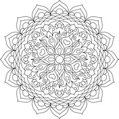 free mandala coloring pages for adults # 48