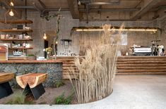 Gallery of cafe that resembles jeju island / starsis - 17 in Restaurant Interior Design, Shop Interior Design, Retail Design, Exterior Design, Estilo Interior, Diy Interior, Retail Interior, Design Blog, Cafe Design