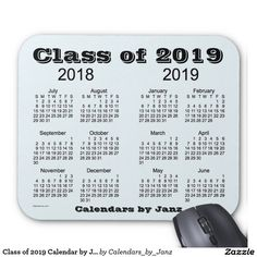 Class of 2019 Calendar by Janz Mouse Pad