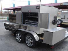 Barbecue trailer