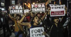 Decenas de miles de personas vuelven a protestar en Brasil contra el Gobierno de Temer