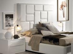 Cabezal tapizado de la colección Square. #bedroom, #dormitorio, #upholstery