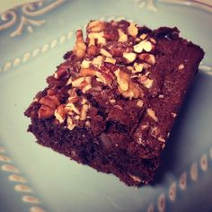 Pecan and walnut brownies! Delicious brownies, made better with pecans and walnuts inside and on top!