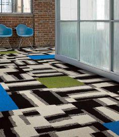 «Мемфис в Милан и обратно» и другие - ковровая плитка от компании InterfaceFLOR