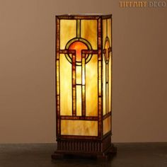Square Tiffany Lamp Art Déco Small  - the most beautiful Tiffany Lamps