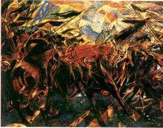 Funeral of the Anarchist Galli, Carlo Carrà « Pollocksthebollocks's Weblog