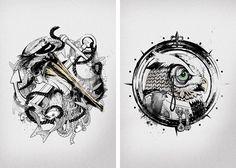 One of my favorite tattoo illustrators -  Oliver Munden.