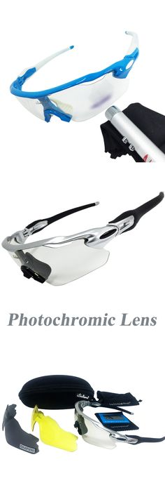 Photochromic Cycling Glasses Men Women Bike Goggles MTB Bicycle Polarized Eyewear Sports Outdoor Sunglasses 3 Lens