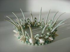 Cake topper Mermaid Crown Starfish Crown Beach by PamperedPaisley Mermaid Shell Top, Mermaid Crown, Seashell Crown, Starfish, Shell Crowns, Viking Braids, Seashell Crafts, Beach Jewelry, Shell Jewelry