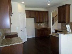 I'm thinking light counters.....kitchen dark cabinets light granite