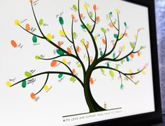 Fingerprint tree inspired by Pinterest