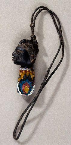 Neck pendant, Nigeria, Yoruba peoples, Fowler Museum at UCLA. Gift of the Ralph B. African Design, African Art, Yoruba People, Art Africain, Everyday Items, Ethnic Jewelry, Tribal Art, Stone Jewelry, Jewelery