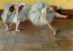 """Two Ballet Dancers"" (1879), Edgar Degas (Francia) - Impresionismo"