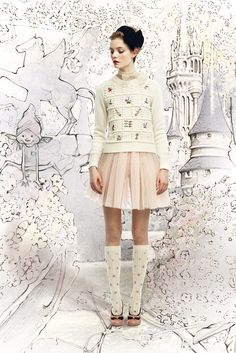 Red Valentino, everything about this image fits together so perfectly.