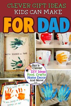 Homemade Father's Day Gifts From Kids – Ideas for Preschoolers, Toddlers and Kids of All Ages – These are the cutest Father's Day crafts and DIY gifts from the Diy Birthday Gifts For Dad, Homemade Fathers Day Gifts, Diy Gifts For Him, Diy Father's Day Gifts, Father's Day Diy, Easy Diy Gifts, Creative Gifts, Handmade Gifts, Diy Gifts Just Because