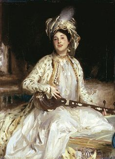 John Singer Sargent, Almina, daughter of Asher Wertheimer on ArtStack #john-singer-sargent #art
