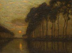 The Bruges Canal, Belgium, 1900-10, Charles Warren Eaton