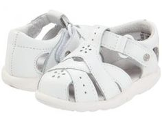 Stride Rite SRT Tulip (Infant/Toddler) (White) Girls Shoes