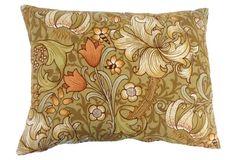 William Morris Golden Lily Pillows, Pair
