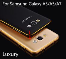 Luxury metal Hard phone case for Samsung Galaxy A3/A5/A7 Paint Aluminum frame+Protector back cover For Samsung A3000/A5000/A7000