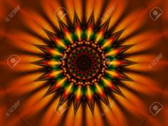 3D Sunflower Mandala Star Sun Stock Photo, Picture And Royalty ...