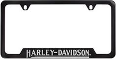 Harley-Davidson Contemporary License Plate Frame - Classic Script - Bottom - Black