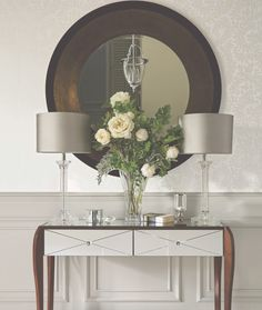 Find sophisticated detail in every Laura Ashley collection - home furnishings, children's room decor, and women, girls & men's fashion. Laura Ashley Mirror, Side Table Styling, Hallway Mirror, Hall Mirrors, Round Mirrors, Childrens Room Decor, Gray Interior, Rustic Interiors, Home Furnishings