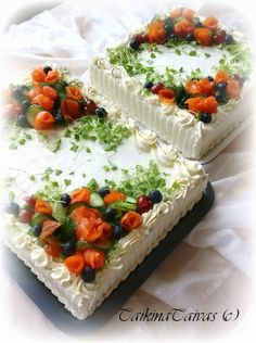 Cake nature fast and easy - Clean Eating Snacks Savoury Baking, Savoury Cake, Sandwich Cake, Sandwiches, Elegant Cookies, Cold Cake, Recipe For Teens, Salty Cake, Diy Food
