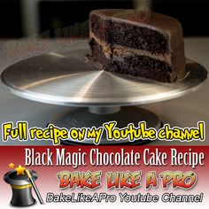 My Black Magic Chocolate Cake Recipe - click the link to see this video recipe on my Youtube channel Fudge Recipes, My Recipes, Baking Recipes, Cake Recipes, Magic Chocolate Cake, Chocolate Recipes, Black Magic Chocolates, Chocolate Ganache Glaze, Best Food Ever