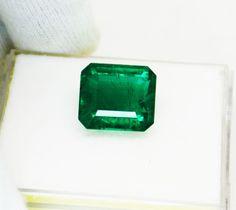 13.15 Fine Natural Emerald Square Octagon Zambia UnTreated Loose GemStone #RareGemIN