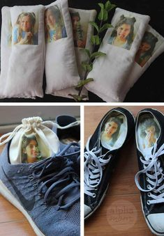Funny Shoe Deodorizer Sachets as Father's Day Gifts by Brenda Ponnay for Alphamom.com #FathersDayGiftIdeas #GiftIdeas #ShoeSachets #FathersDay #StinkyShoes #DIYGifts #PhotoGift #KidsCraft