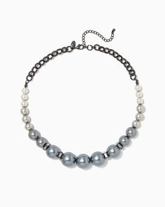 Gunmetal Ombre Pearl Necklace   Fashion Jewelry - RSVP   charming charlie