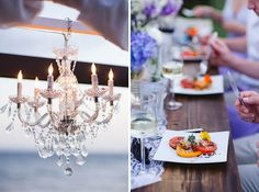 An elegant dinner outdoors at Sugar Beach Events.