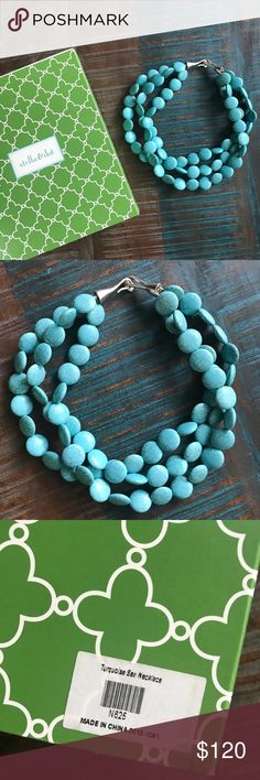 Stella & Dot Turquoise Sea Necklace Stella & Dot Turquoise Sea Necklace Retired -Comes with original box Stella & Dot Jewelry Necklaces
